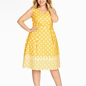 Talbots | Pineapple and Dots Dress